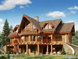 Деревянные дома. Оцилиндровка, дикий сруб
