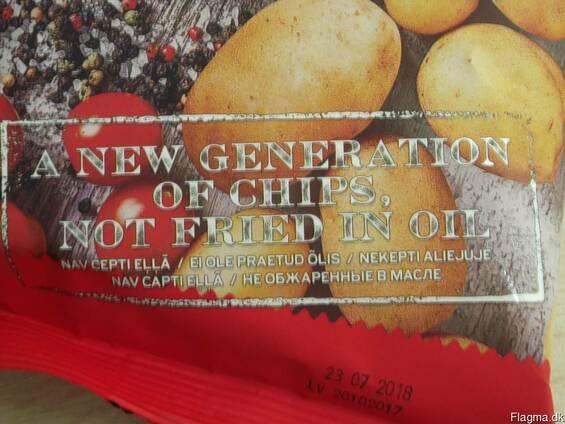 Potato chips not fried in oil