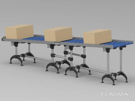 Roller transporter gravity conveyor 4 meters transportbånd rulle transportruller
